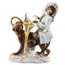 Meissen Monkey Band - Figurine of a Monkey Band Pianist